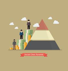 Social class pyramid vector