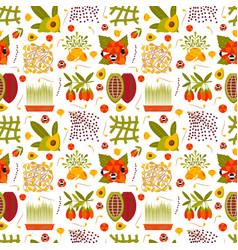Super food seamless pattern vector