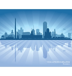 Yekaterinburg russia skyline city silhouette vector