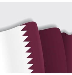 Qatari waving flag vector