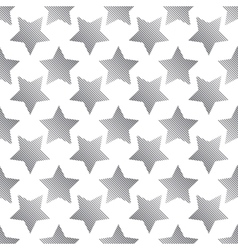 The pattern of striped black five-pointed star vector