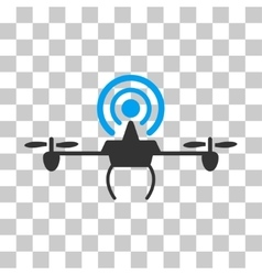 Wifi repeater drone icon vector