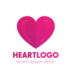 Heart logo design pharmacy medicine health care vector
