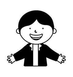 Little ethnic boy character vector