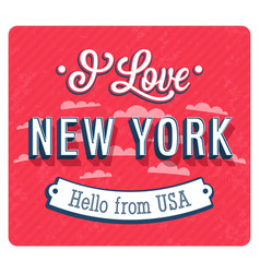 Vintage greeting card from new york vector