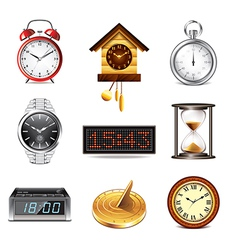 set clock vector image