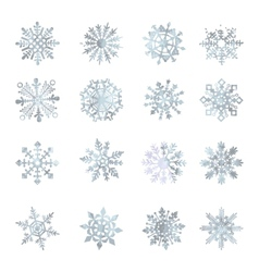 Watercolor snowflakes  star symbol graphic crystal vector