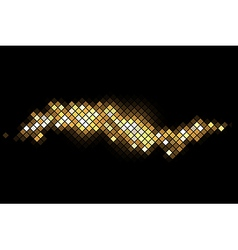 magic background with gold sparkles vector image