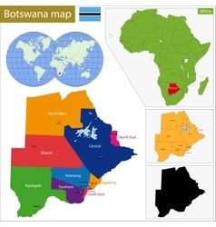 Botswana map vector