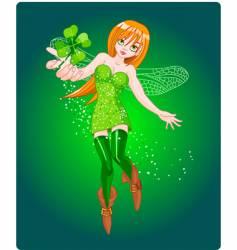 clover fairy vector image