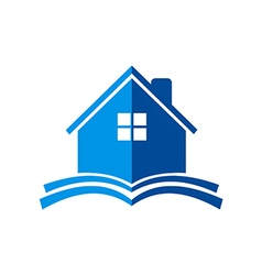 House construction book logo vector