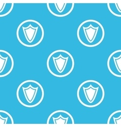 Shield sign blue pattern vector