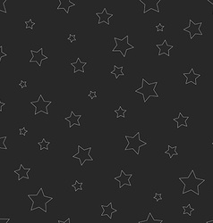 Hipster seamless pattern of thin line star graphic vector image