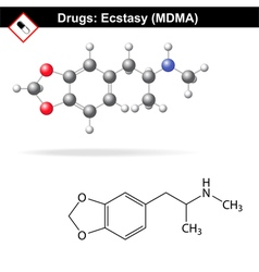 Ecstasy recreational drug vector