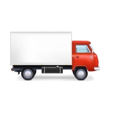 Commercial delivery cargo truck vector