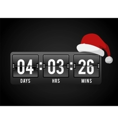Christmas clock timer digits board panels vector