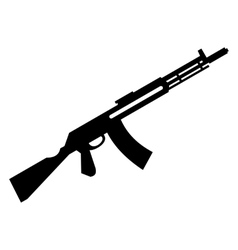 Submachine gun simple icon vector