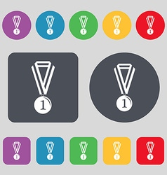 Medal for first place icon sign a set of 12 vector