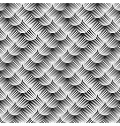 Design seamless monochrome zigzag pattern vector