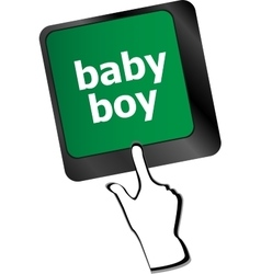 Baby boy message on keyboard enter key vector