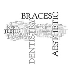 Aesthetic dentistry text word cloud concept vector