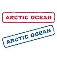 Arctic ocean rubber stamps vector
