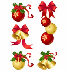 Christmas decor vector image vector image
