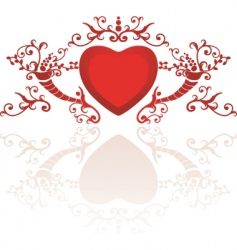 classy heart vector image