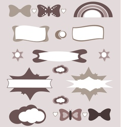 Cute design elements set vector