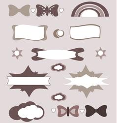 Cute design elements set vector
