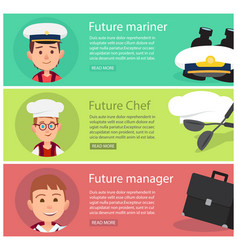 future mariner chef and manager vector image