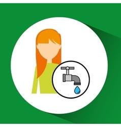 Girl concept ecological drop water vector