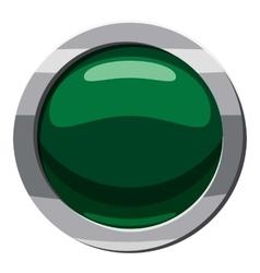 Green button icon cartoon style vector image