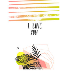 hand made abstract graphic valentines day vector image vector image