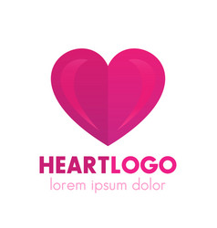 Heart logo design pharmacy medicine health care vector
