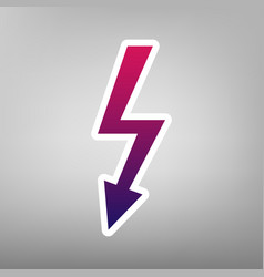 High voltage danger sign purple gradient vector