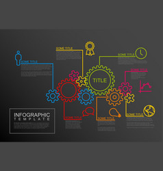 infographic report template with gear wheels vector image vector image