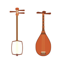 japanese shamisen vector image