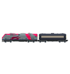 Locomotive with tank car isolated vector