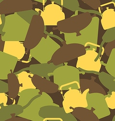 Military texture of kitchen utensils Camouflage vector image vector image