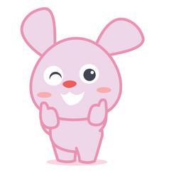 Rabbit smilling character cartoon vector