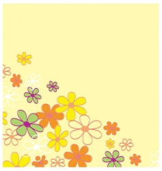 retro flower background vector image vector image