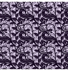 Seamless lace fabric dark color openwork pattern vector