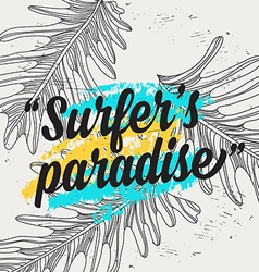Summer quote party background with tropical vector image vector image