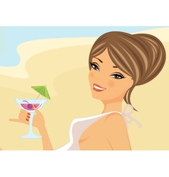 Sunbathing beauty vector image vector image