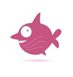 sweet pink fish vector image vector image