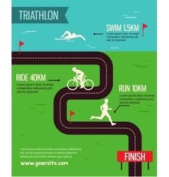 triathlon Triathlon poster vector image vector image