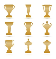 Trophy set vector image