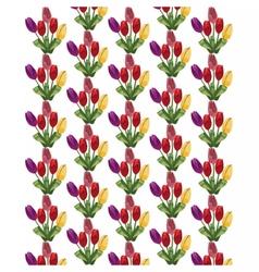 Tulip flowers bouquet pattern vector