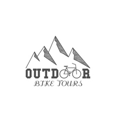 Vintage outdoor bike tours badge outdoors logo vector image vector image
